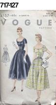 VTG Sewing Pattern  Vogue #8157 Size 12 Bust 30 Hip 33 Dress Full Skirt ... - $20.88