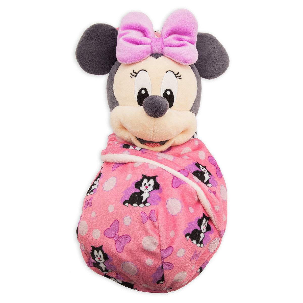 Disney Parks Baby Minnie in a Blanket Pouch Plush New with Tags