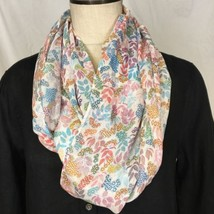 TALBOTS Women's Fashion Infinity Scarf Floral  ... - $23.36