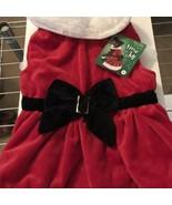 New! Time for Joy Mrs. Claus Dog Christmas Dress Size Medium - $12.34