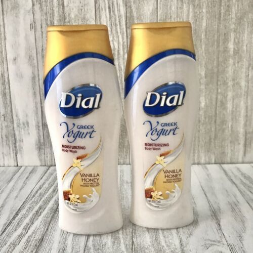 Primary image for 2 Dial Greek Yogurt Moisturizing Body Wash - Vanilla Honey 16 oz NEW