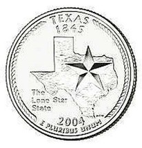 2004-D TEXAS BRILLIANT GEM UNC STATE QUARTER WE HAVE - $2.83