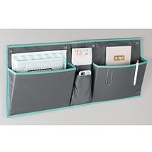mDesign Fabric Wide Large Over The Cubical Wall Mounting Hanging File Folder Not image 4