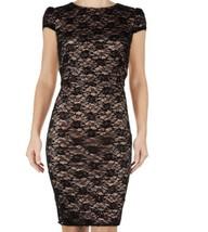 BETSEY JOHNSON Cap Sleeve Lace  Sheath  Dress  Size 6 NWT - $23.10