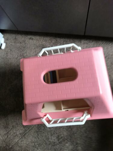 Vintage LITTLE TIKES Dollhouse with Pink Roof GRANDMA'S COTTAGE doll house Only image 5