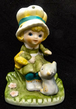 1980's  HOMCO Porcelain Girl With Cat Figurine # 1430 - $10.93