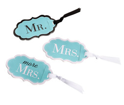 Honeymoon Gifts Luggage Tags Wedding Gifts Mr Mrs and More Mrs - $11.50