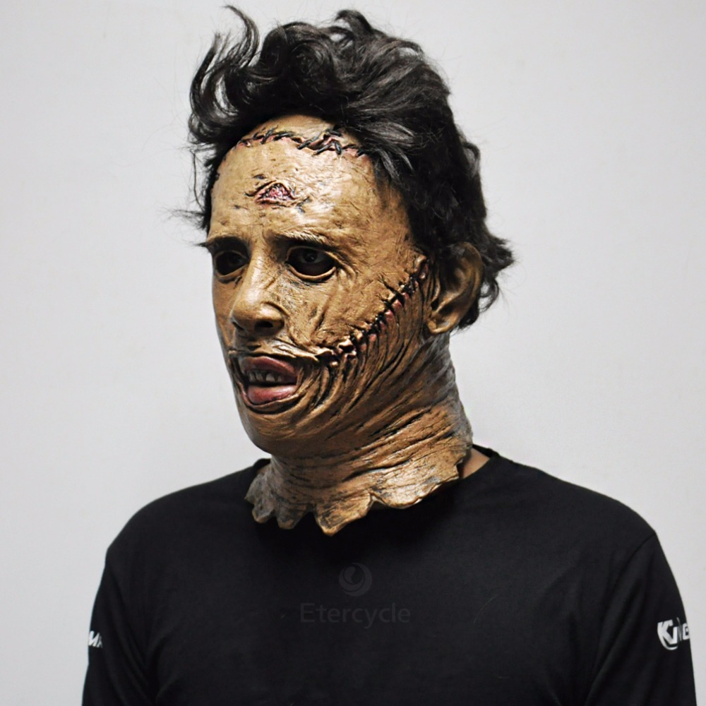 The Texas Chainsaw Massacre Leatherface Masks Scary Movie Cosplay Mask for sale  USA
