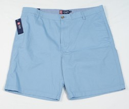 Chaps Blue Flat Front Casual Shorts 100% Cotton Mens NWT - $37.49
