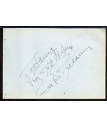 TURHAN BEY Autograph, signed on album page - $5.44