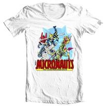 Micronauts tee shirt 80's nostalgic comics retro toys white t-shirt 100% cotton image 2