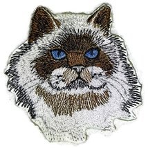 Amazing Custom Cat Portraits[Himalayan Cat Face ] Embroidered Iron On/Se... - €5,10 EUR