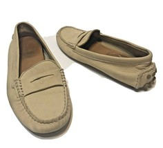 Coach Nicola Womens Penny Loafers Flats Driving Mossicans Leather Tan Si... - $24.48