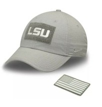 NIKE USA Tactical Heritage86 LSU Fishing SEC Army Patch Golf EDC Dad Hat... - $24.75