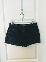 Ann Taylor Loft Womens Denim Shorts Dark Wash 100% Cotton Flat Front Poc... - $14.84