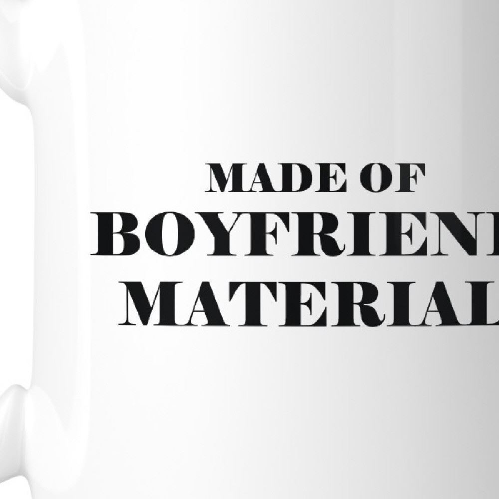Boyfriend Material Ceramic Coffee Mug 11oz Gift For Him For Couples