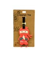 NINJA Red Luggage Tag PVC Baggage Travel 4 Inch ID Airline Plane US Ship... - $6.99