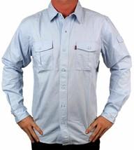 NEW LEVI'S MEN'S COTTON CLASSIC REGULAR FIT BUTTON UP SHIRT SKY BLUE-057CC XL