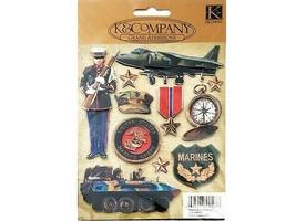 K&Company Marines Grand Adhesions Stickers #555037