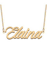 Elaina Name Necklace for Best Friends Family Girl Friend Birthday Gifts - $13.99 - $15.99