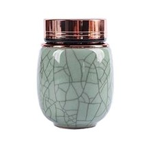 Kylin Express Unique Style Mini Ceramic Tea Canister Tea Storage Container Seal  - $18.67