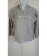 Style & Co Women's Long Sleeve Hoodie Lace Trim Misty Harbor Gray Sweats... - $37.40