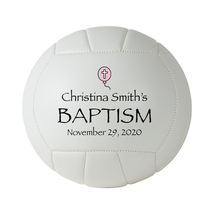 Personalized Custom Regulation Size Volleyball Pink Balloon Baptism Gift - $59.95