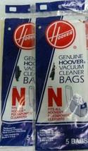 Genuine Hoover Type N Portapower Vacuum Cleaner Bags 4010038N 2 Packs 10... - $8.91