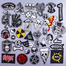 Rock and Roll Embroidered Iron On Sticker Patches for Clothing Bag Decor... - $9.99