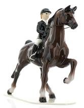 Hagen-Renaker Specialties Ceramic Figurine Dressage Horse with Rider image 2