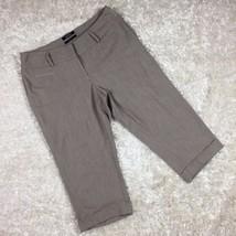 Apt 9 Petite Curvy Fit Taupe Bermuda Length Shorts Size 10P - $9.49