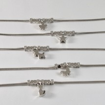 Silver Bracelet 925 Jack&co with Star Dog Butterfly Four-Leaf Clover or Cat image 1