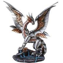 Steampunk Inspired Mechanical Gearwork Dragon Sculpture 12 Inch - $45.53