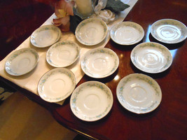 11 Royal Court Fine China of Japan Blue Fantasy Saucers For Coffee Cup 5... - $19.60