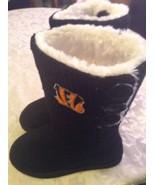 NFL Cincinnati Bengels boots Size Medium 7-8 faux fur knit pull on black... - $64.00