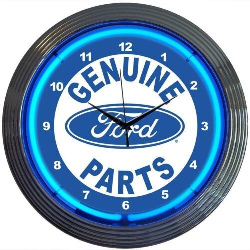 "Primary image for Ford Genuine Parts Licensed Neon Clock 15""x15"""