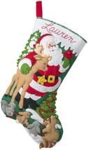 "Bucilla Felt Stocking Applique Kit 18"" Long-Forest Greetings  - $31.79"