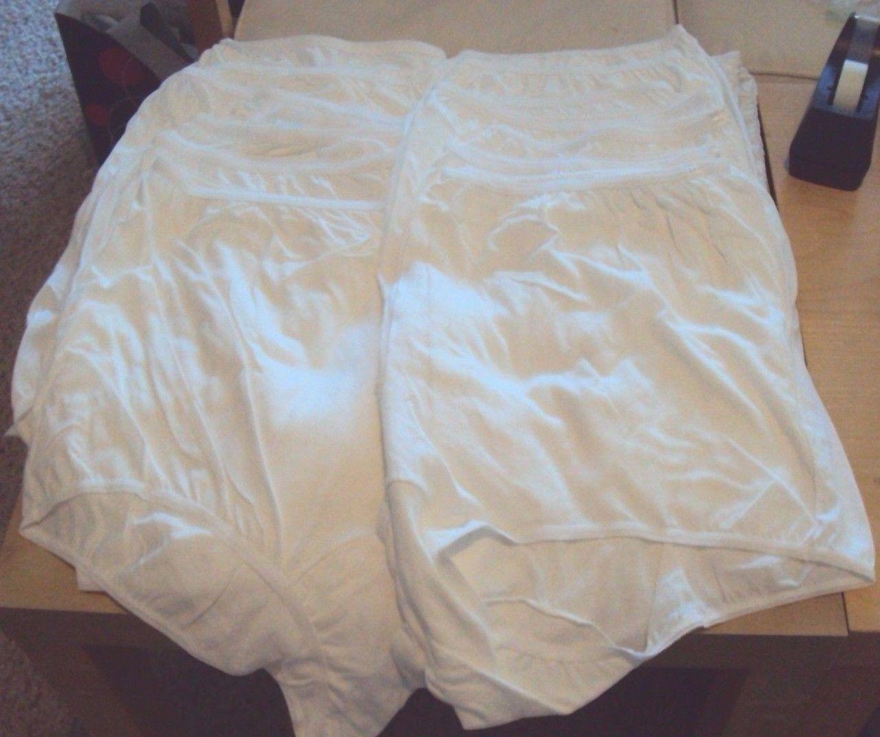 Twelve Dixie Belle Lingerie plus size Cotton Briefs Size 16 White