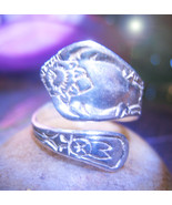 Haunted RING 14X RICHES TO COME WEALTH MAGICK STERLING SPOON WITCH Cassia4  - $33.00
