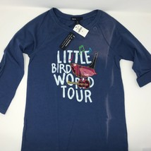 Gap Kids Long Sleeve Shirt adjusted to 3/4 Sleeve Blue Light Embroidery ... - $10.00