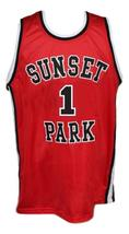 Fredo Starr Shorty #1 Sunset Park Movie Basketball Jersey New Sewn Red Any Size image 3