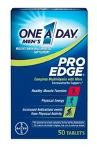 Bayer One A Day Mens Pro Edge Complete Multivitamin 50 Tablets ☆ Exp 10/01/2021 - $11.87