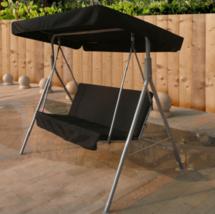 Garden Swing Seat Hammock Lounger Chair Metal Frame Cushioned Patio Porc... - $158.50