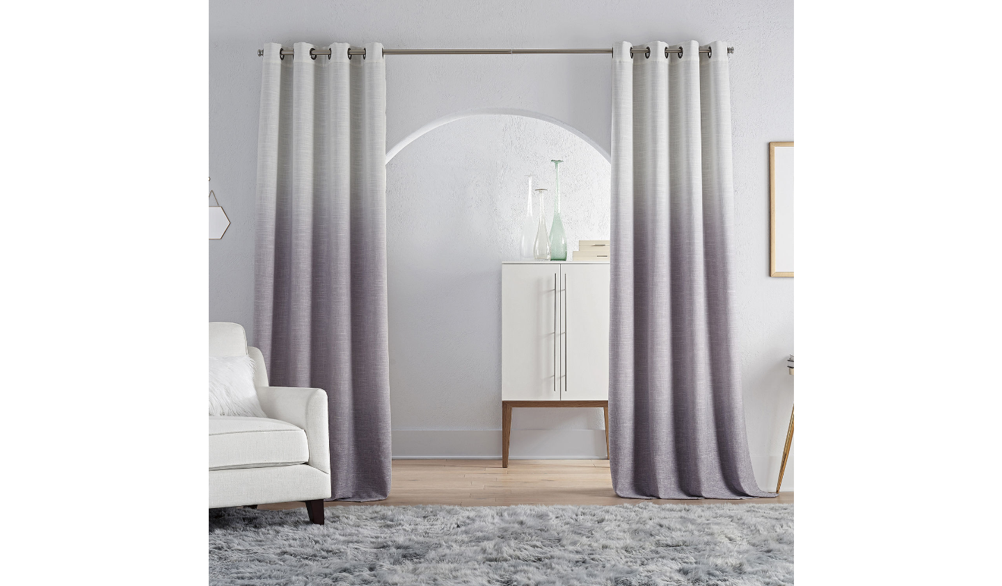 Primary image for (1) JC PENNEY JCP HOME Sullivan Ombre LAVENDER BLACKOUT Grommet 50 x 84 Curtain