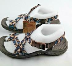Skechers Reggae Loopy Sandals Womens Sz 6 Chocolate Blue Shoes - $27.00