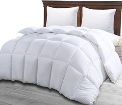 Queen Comforter Duvet Insert White Soft Down Alternative Comforter Corne... - $51.27