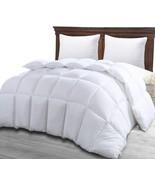 Queen Comforter Duvet Insert White Soft Down Alternative Comforter Corne... - $48.50