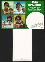 Vintage carton stuffer 7UP 1981 Magic Johnson Brett Tug McGraw Sugar Ray... - $8.99