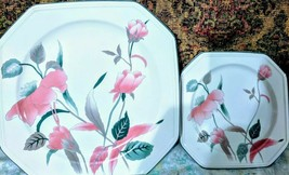 21 Mikasa Silk Flowers Dinner Plates/Saucers (3 different sizes-21all to... - $21.99