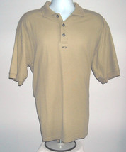 Mens Oakley Polo Golf Shirt Tan Large The Big U Invitational - $27.67